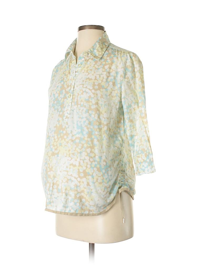 Gap - Maternity Women 3/4 Sleeve Button-Down Shirt Size S (Maternity)