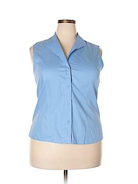 Jones New York Sleeveless Button-Down Shirt Size 16