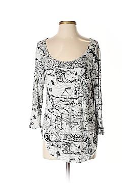 Joan Vass 3/4 Sleeve T-Shirt Size L