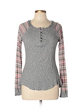Hem & Thread Long Sleeve Henley Size L