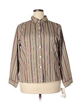 PASSPORTS Long Sleeve Button-Down Shirt Size 3X (Plus)