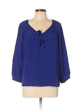Gerard Darel 3/4 Sleeve Silk Top Size 44 (FR)