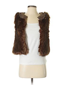 Gryphon New York Faux Fur Vest Size S