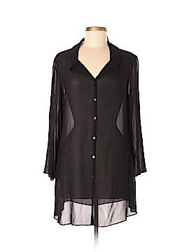 Eileen Fisher 3/4 Sleeve Button-Down Shirt Size M