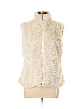 Erin London Faux Fur Vest Size L