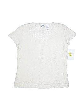 Emma James Short Sleeve Silk Top Size M