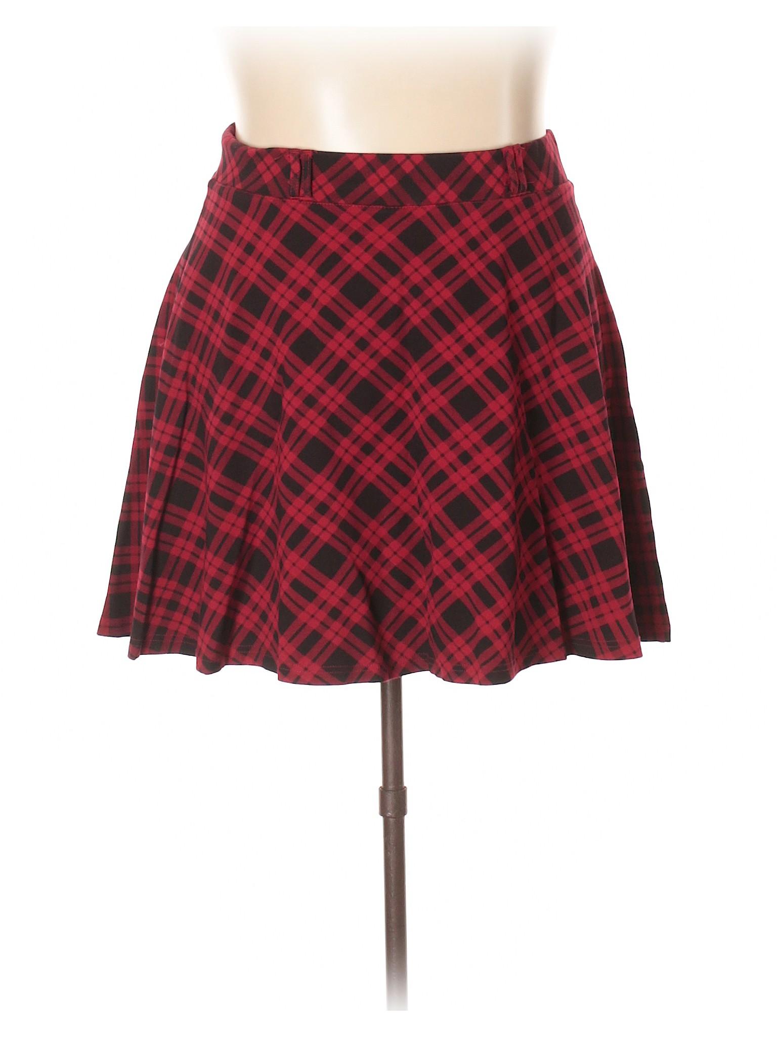554d3ebc4 Torrid Plus Size Red Tartan Plaid Skirt