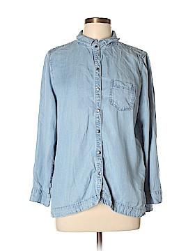 J.jill Long Sleeve Button-Down Shirt Size L (Petite)