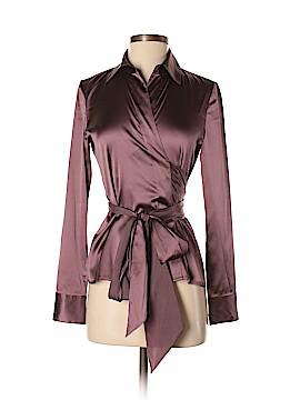 Ann Taylor Long Sleeve Silk Top Size 2