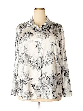 Select Long Sleeve Button-Down Shirt Size 18 (Plus)