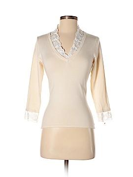 INC International Concepts Long Sleeve Silk Top Size S
