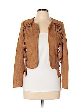 Crescent Faux Leather Jacket Size S