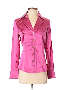 Cache Long Sleeve Silk Top Size S
