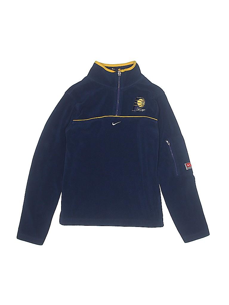 3e8d74d514a2 Nike 100% Polyester Solid Dark Blue Fleece Jacket Size M (Kids) - 87 ...
