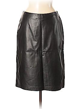 Ann Taylor Leather Skirt Size 8