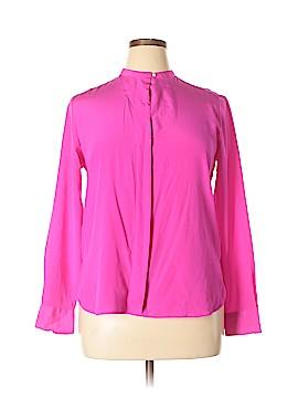 Polo by Ralph Lauren Long Sleeve Silk Top Size 14