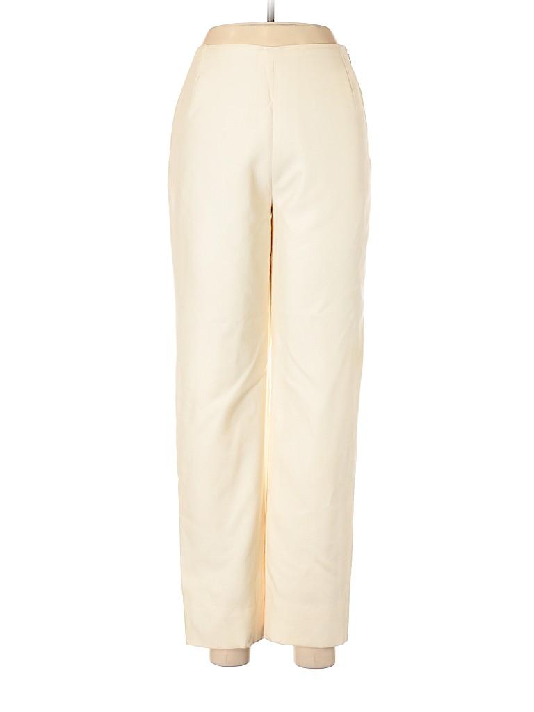 Oscar De La Renta Women Wool Pants Size 6