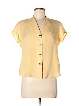 Evan Picone Short Sleeve Silk Top Size 8