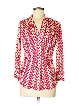 Diane von Furstenberg Long Sleeve Silk Top Size 8