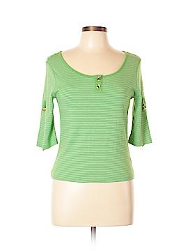 Chaps 3/4 Sleeve Top Size L (Petite)