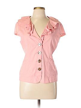 Live A Little Short Sleeve Button-Down Shirt Size L