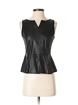 Chelsea & Violet Faux Leather Top Size S