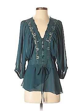 Black Rainn 3/4 Sleeve Button-Down Shirt Size S