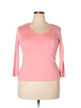 Chaps 3/4 Sleeve T-Shirt Size L