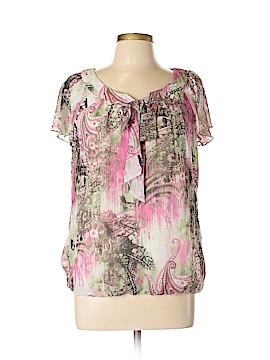 Sara Michelle Short Sleeve Blouse Size XL (Petite)