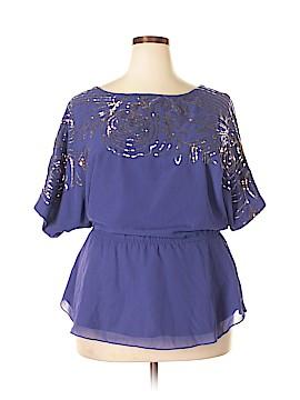 Denim 24/7 Short Sleeve Blouse Size 14