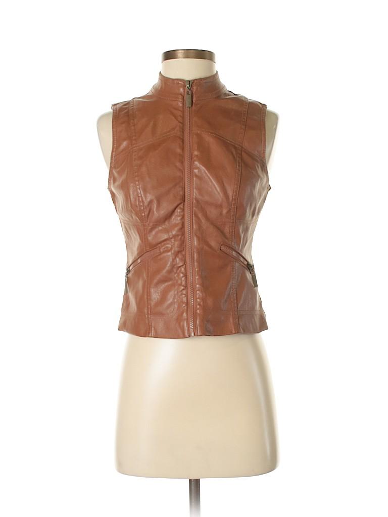 Paris Blues Women Faux Leather Jacket Size S