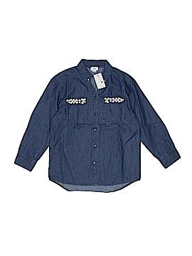 River Island Long Sleeve Button-Down Shirt Size 5 - 6
