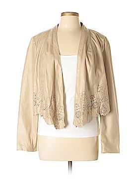 INC International Concepts Faux Leather Jacket Size L (Petite)