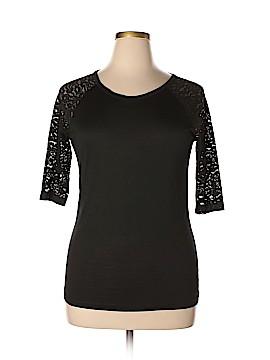 Barneys New York 3/4 Sleeve Silk Top Size XL