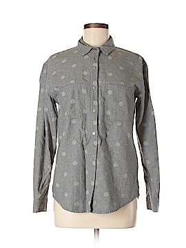 Hinge Long Sleeve Button-Down Shirt Size XS