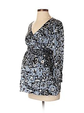 Mimi Maternity 3/4 Sleeve Silk Top Size S (Maternity)