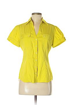 Express Design Studio Short Sleeve Button-Down Shirt Size M
