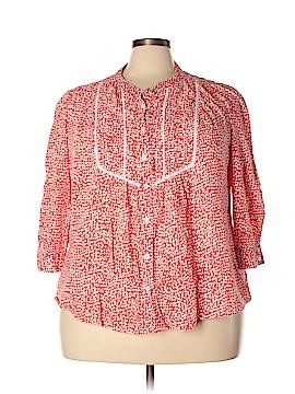 St. John's Bay 3/4 Sleeve Button-Down Shirt Size 3X (Plus)