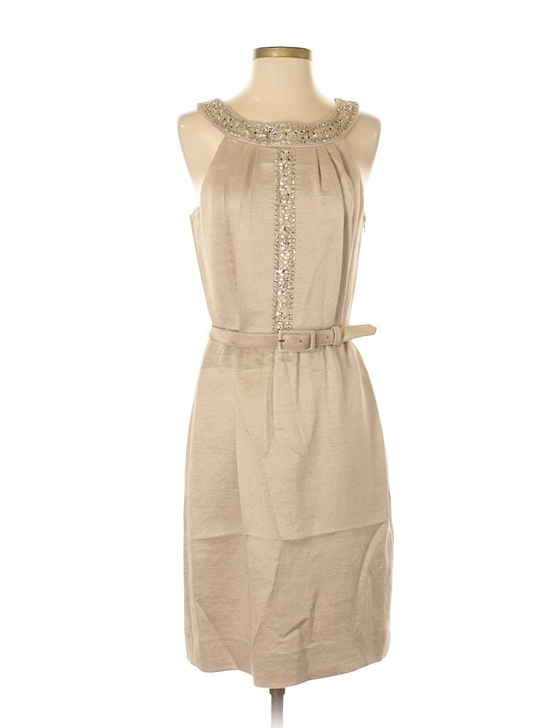 2c45aab0661 Antonio Melani Solid Tan Cocktail Dress Size 6 - 73% off