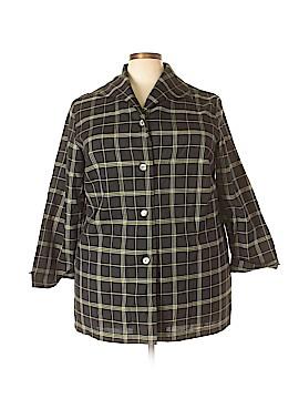 Maggie Barnes Long Sleeve Button-Down Shirt Size 20 (4) (Plus)