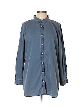 Garnet Hill Long Sleeve Button-Down Shirt Size XL