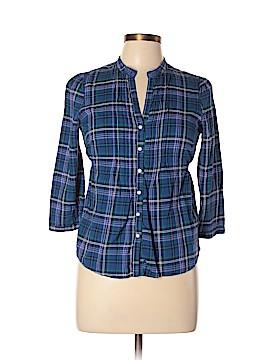 Tildon 3/4 Sleeve Button-Down Shirt Size L
