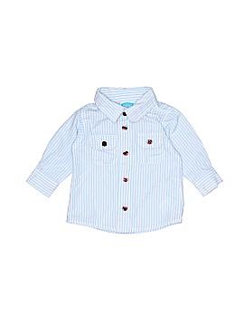 Bon Bebe Long Sleeve Button-Down Shirt Size 0-3 mo