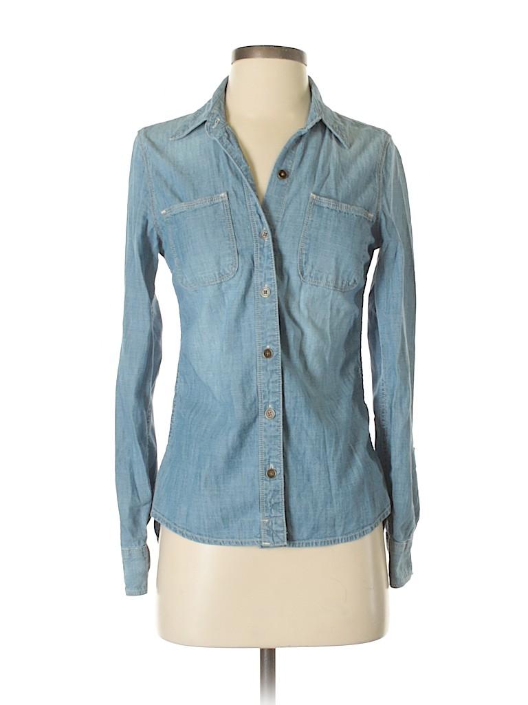 Lucky Brand Women Long Sleeve Button-Down Shirt Size 3 - 4