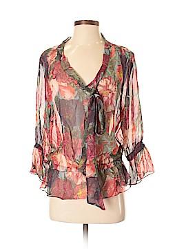 Haute Hippie 3/4 Sleeve Silk Top Size XS