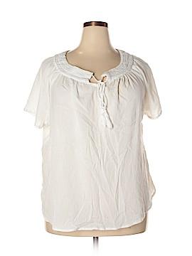 IZOD Short Sleeve Blouse Size 3X (Plus)