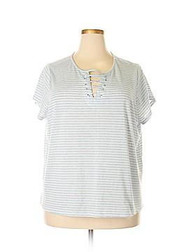 Retro-ology Short Sleeve Blouse Size 2X (Plus)
