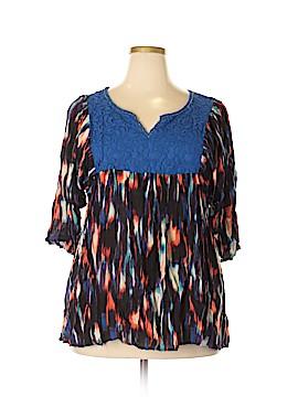 Life Style 3/4 Sleeve Blouse Size 1X (Plus)