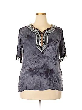 Studio West Short Sleeve Blouse Size 1X (Plus)