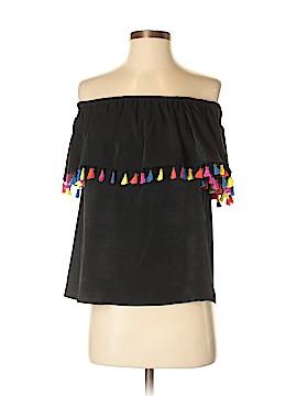INC International Concepts Short Sleeve Blouse Size S (Petite)